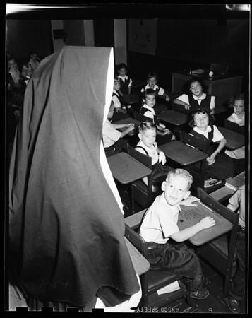 Back to school -- Saint Francis De Sales, Sherman Oaks, 1951