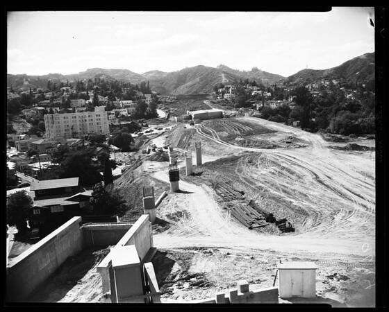 Hollywood freeway, 1952