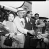 Chennault arrival (Burbank), 1952