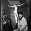 Woman sculpture commission to do church, 1951