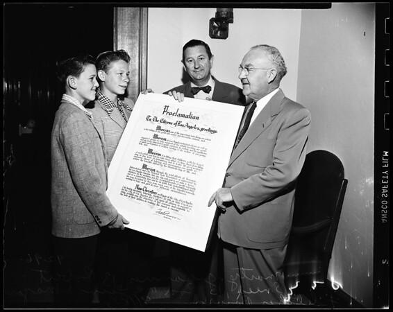 Kiwanis Kids Day, 1951