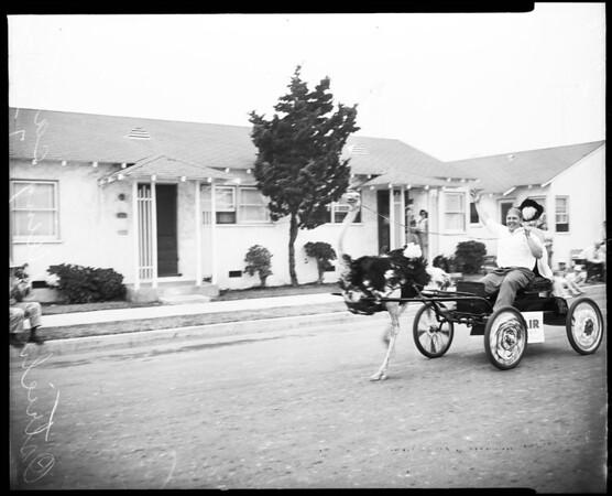Huntington Beach parade, 1952