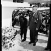 Place wreath on Mexican National Monument in Tijuana, 1952