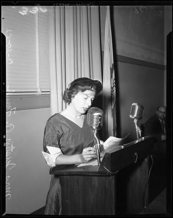 School Board hearing, 1952