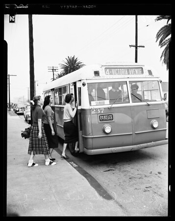 Santa Monica buses, 1951
