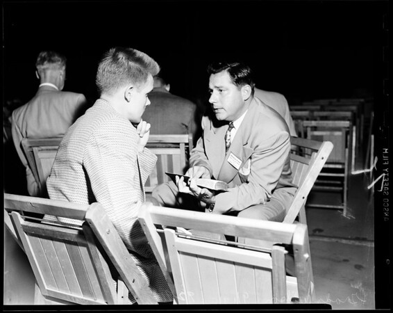 Billy Graham rehearsal, Hollywood Bowl, 1951
