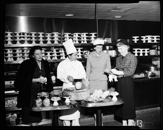 "Foothill Cancer Institute group -- ""Gourmet Enterprise"", 1957"