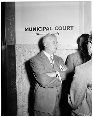 Allen Smiley (in court), 1954