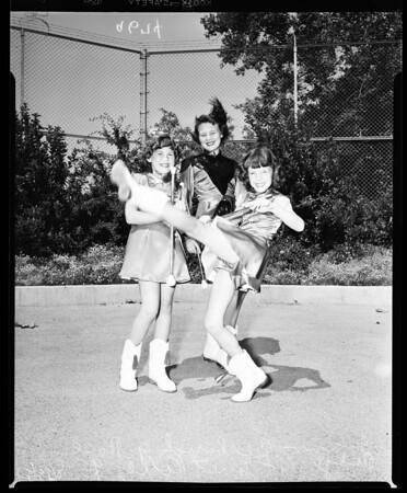 Majorette contest, 1952