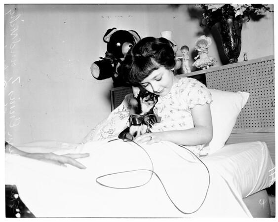 Gift dog for sick child, 1954