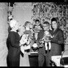 Juvenile Hall doll party -- luncheon, 1957