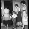 Kindergarten roundup (Registration in El Monte), 1954