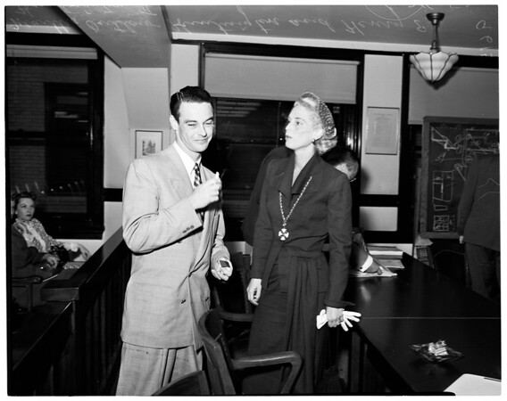 Huntington divorce, 1952