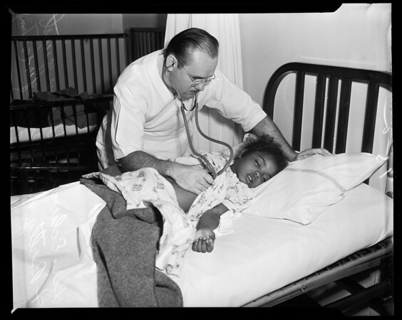 Girl revived (Georgia Street Hospital), 1954