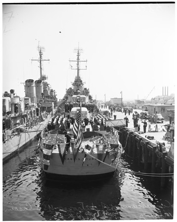 """Commissioning of the 'USS Cassin Young"""", 1951"""