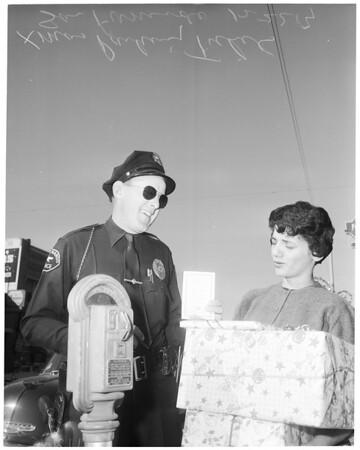 Christmas parking tickets in San Fernando, 1954