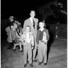 Franchot Tone arrival (airport), 1951