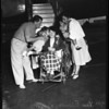 Polio victim flown here to see mother, 1952