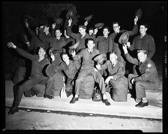 United States Army Reserves (311th Logistical Unit leaves for Camp Cooke) training, 1952