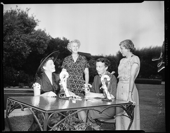 Candy cane ball committee, 1952