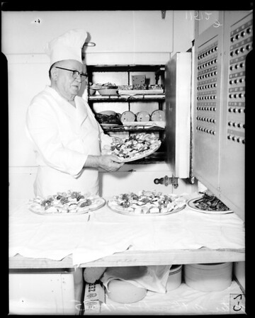 Chef aboard S.S. President Wilson, 1955
