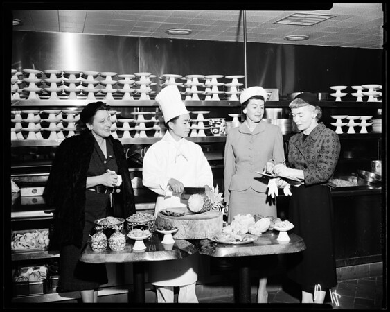 """Foothill Cancer Institute group -- """"Gourmet Enterprise"""", 1957"""