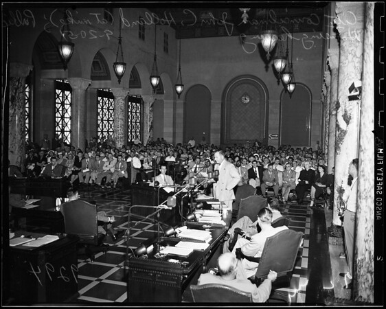 Public housing hearing (at City Council), 1951