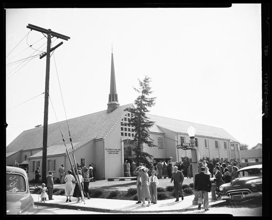 Latter Day Saints Church dedication (11022 Riverside Drive), 1952