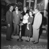Christening of Hutchinson baby, 1954