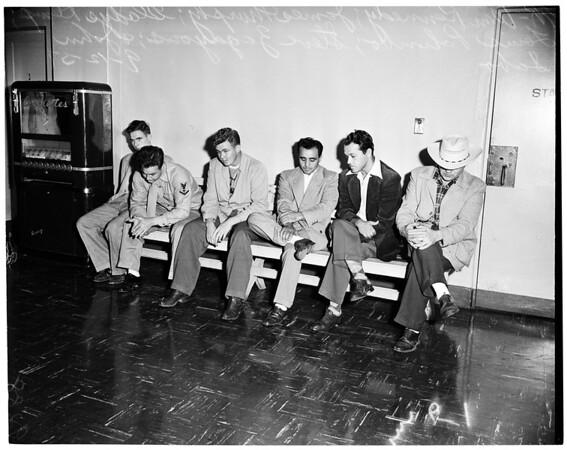 Marine narcotics suspects (city jail), 1951