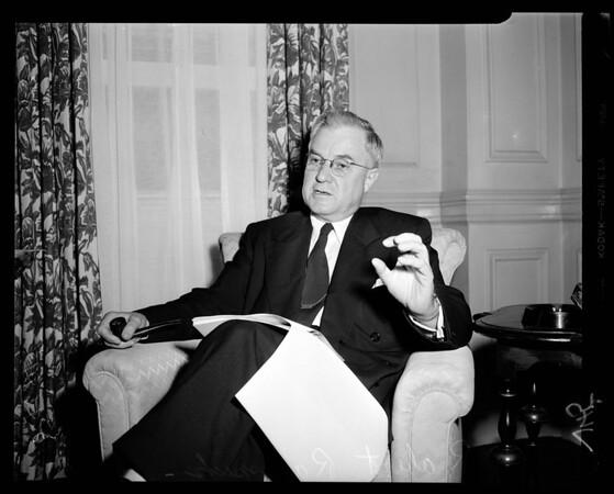 Press Confab (Biltmore Hotel), 1952