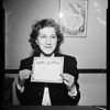 New marriage license clerk, 1952