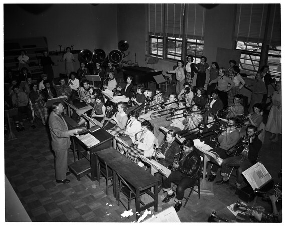El Monte High School Band, 1952