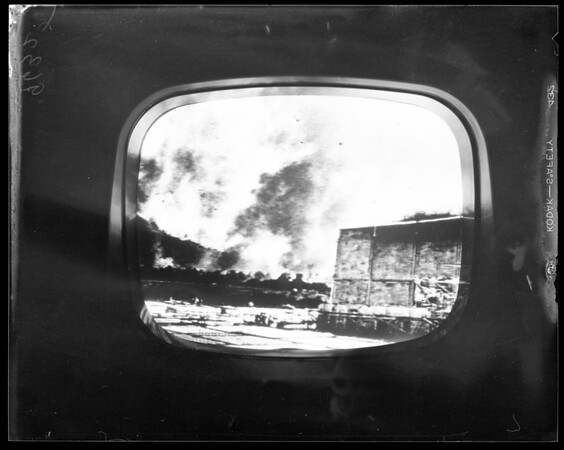 Warner Brothers fire from television (Burbank), 1952