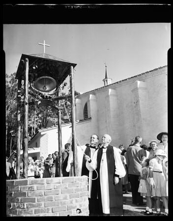 Saint Francis Church Episcopalian dedication ceremony, Palos Verdes Estates, 1952