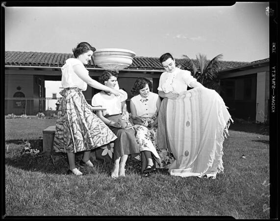 Tarsians planning party, 1952