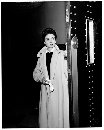 Damage suit, 1952