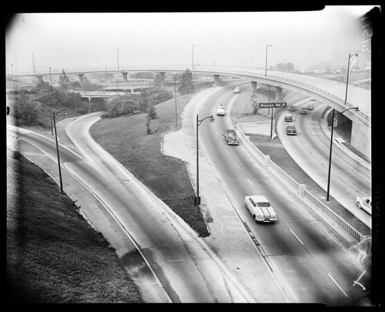 Freeway negatives, 1955
