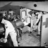 Polio victim at International Airport, 1952