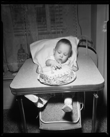Baby born 4 months premature now 1 year old, 1959