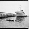 "Opal ""Star of Australia"" arrival on S.S. ""Caronia,"" opal to be on display at Forest Lawn, 1954"