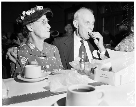 Golden wedding anniversary party, 1954
