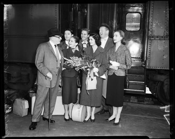 Royal Ballet arrival, 1957