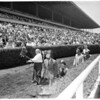 Horse racing opening day, Hollywood Park, 1959