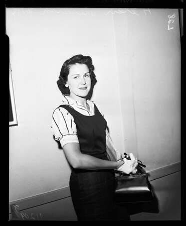 Helen Parrish divorce, 1954