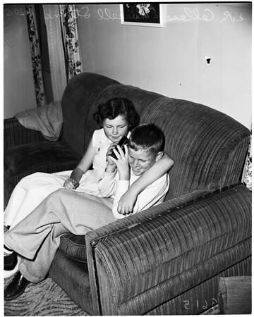 Blind boy, 11432 East 216th Street, Artesia, 1952