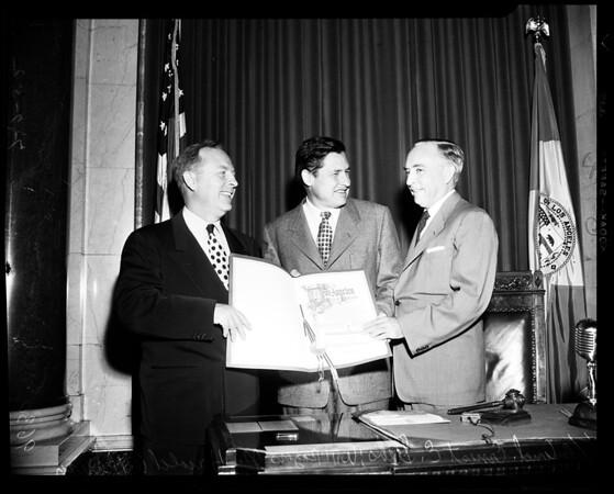 Proclamation, 1952