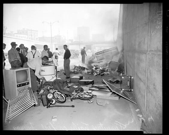 Freeway fire, 1954