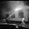 Fire near Los Angeles stock yards, 1954