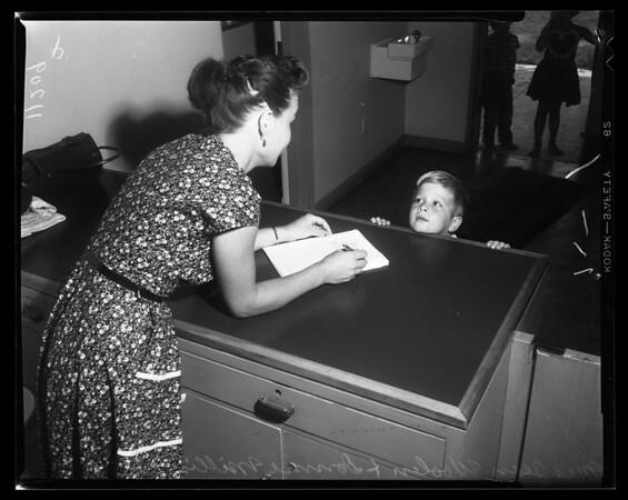 Kindergarten roundup (Registration in El Monte), 1954
